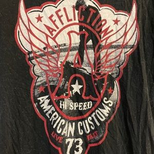 Afflictions Ladies Hi Speed Motorcycle pic Shirt